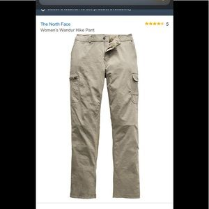 North face hiking pants (size 6) kaki color